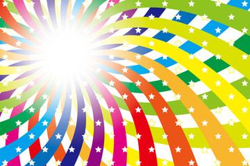 背景素材壁紙(レインボー, 虹, 虹色, 七色, 放射状, 渦)