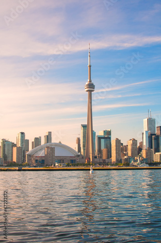 Poster CN Tower and Toronto city view