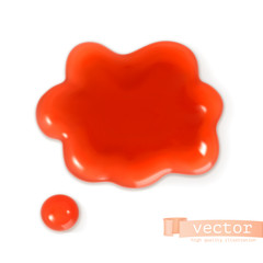 Red sweet drop, vector illustration