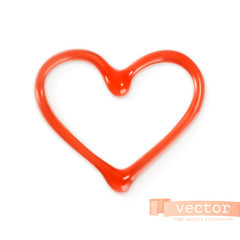 Sweet heart, vector illustration