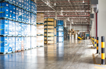 Interior of new large and modern warehouse space