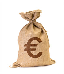 moneybag with dollars  Euro
