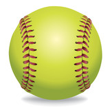 Softball Isolated on White Illustration