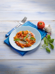 anchovy with capsicum and tomato sauce