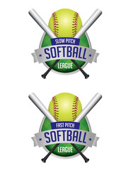 Softball League Emblems