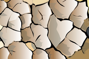 Cracked ground vector background