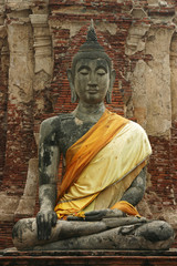 Ancient Buddha image at Wat Phra Sri Sanphet