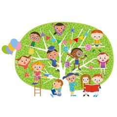 子供達が成長する木