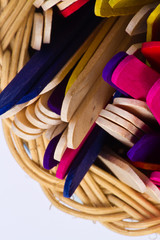 colorful wood ice lolly sticks, Ice cream sticks
