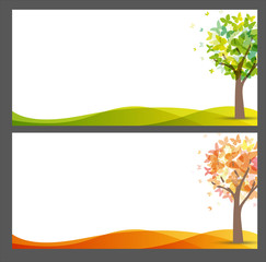 Banner stagioni, farfalle