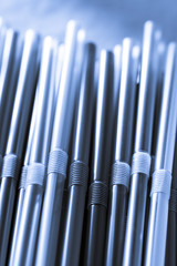 Cocktail straws as background