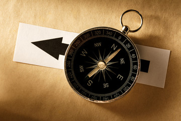 Compass and arrow