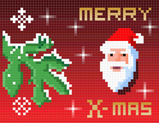 Christmas Card of the pixels.