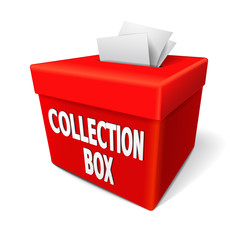 collection box words on the red box