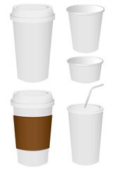 Paper cup set Vector