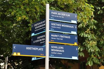 Wegweiser in Weimar