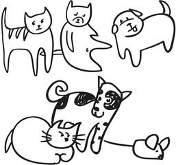 Кошки собаки