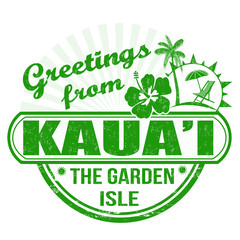 Greetings from Kaua'i stamp