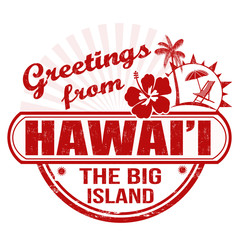 Greetings from Hawaii stamp