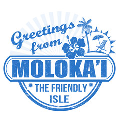 Greetings from Molokai stamp
