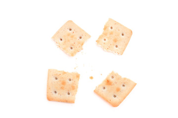broken cookies isolated on white background