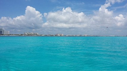 Cancun Mexico Cityview from Ocean