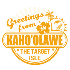 Greetings from Kaho'olanwe stamp