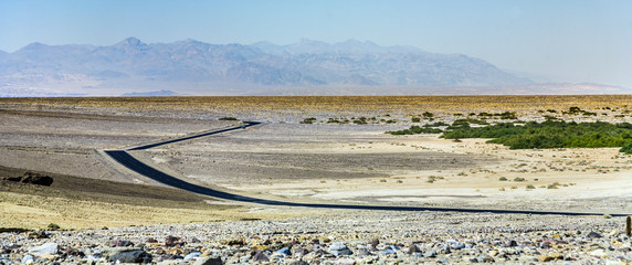 driving  Interstate 187 in Death valley
