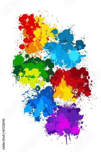 canvas print picture Farbkleckse