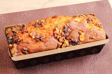 Banana and walnut bread