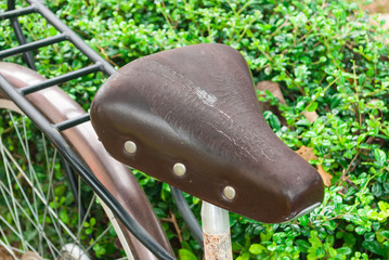 Old Leather Bicycle Saddle