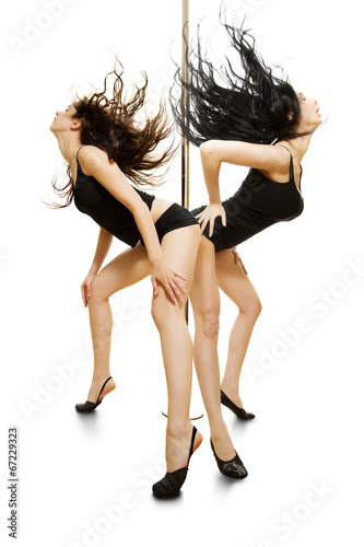 canvas print picture Two sexy girls