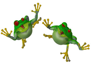 3d cartoon frog
