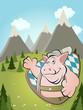 bayern schwein hintergrund lustig