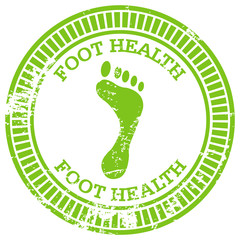 foot health rubber stamp