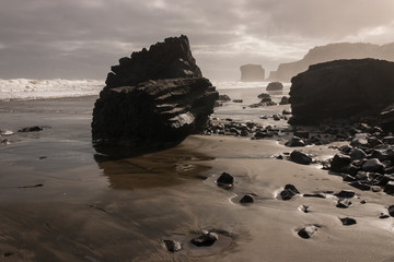 Maori Bay at low tide