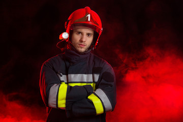 Portrait of the fireman