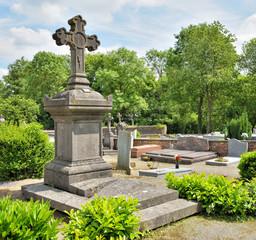 Village cemetery of 19 century in Belgium