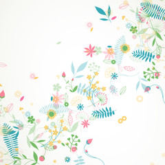 Vector Illustration of a Floral Background