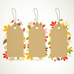 Vector Illustration of Autumn Sale Tags