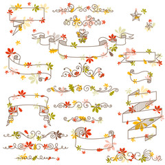 Vector Illustration of Autumn Design Elements