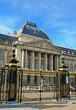 Palace of the king in historical center of Brussels