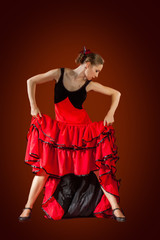 Woman dancing flamenco