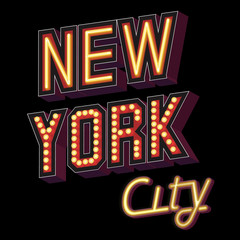 New York City lettering