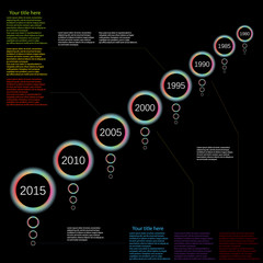 vector infographic time line color light effect