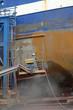 canvas print picture - Reinigung mit Sandstrahlen