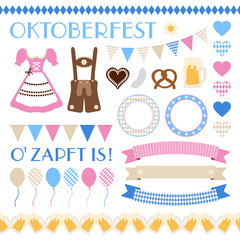 Octoberfest Symbols Set Beige/Color