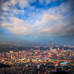 the view of Taipei city, Taiwan