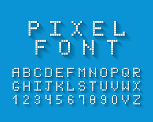 Pixel vector font