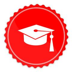 Icon rot Diplom Mütze